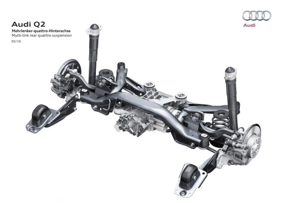 Multi-link rear quattro suspension