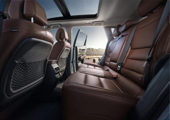 Renault Koleos 2016 arriere interieur