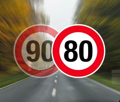 les routes francaises passent à 80