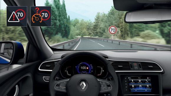 2018 - Nouveau Renault KADJAR Alerte de survitesse avec reconnaissance des panneaux de signalisation