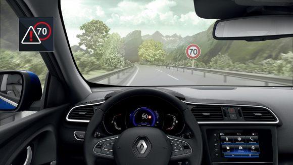 2018 - Nouveau Renault KADJAR Reconnaissance des panneaux de signalisation