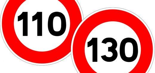 Panneaux 110-130 km/h