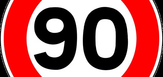 panneau de signalisation 90kmh